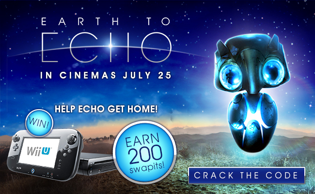 WIN 50 Swapits and a COSMIC goodie bag with Earth to Echo!